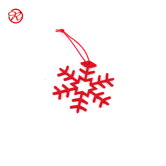 Snowflake Design Felt Hanging Christmas Tree Decoration from China Manufacturer
