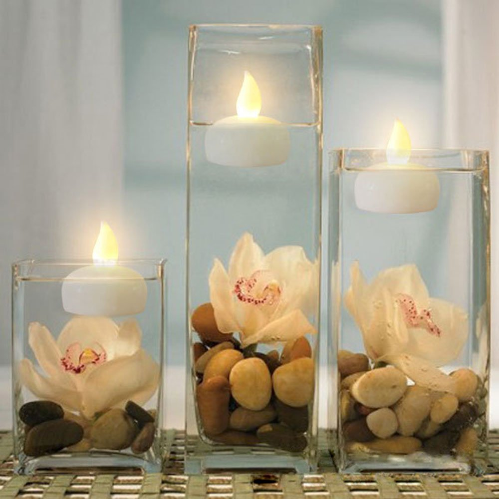 Hitop Led Electronic Floating Candle Craft Waterproof Candles Pool Companion Tealight
