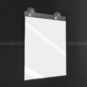 Glass Mount Acrylic Sign Holder With Suction Cups,Window Mount ...