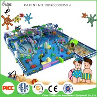 Adventure play equipment small indoor playground with sand pit