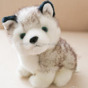 Super Cute Factory Wholesale Husky Plush Toys Realistic Animal Dog