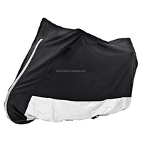 heavy duty outdoor waterproof motorcycle cover with reflective tape