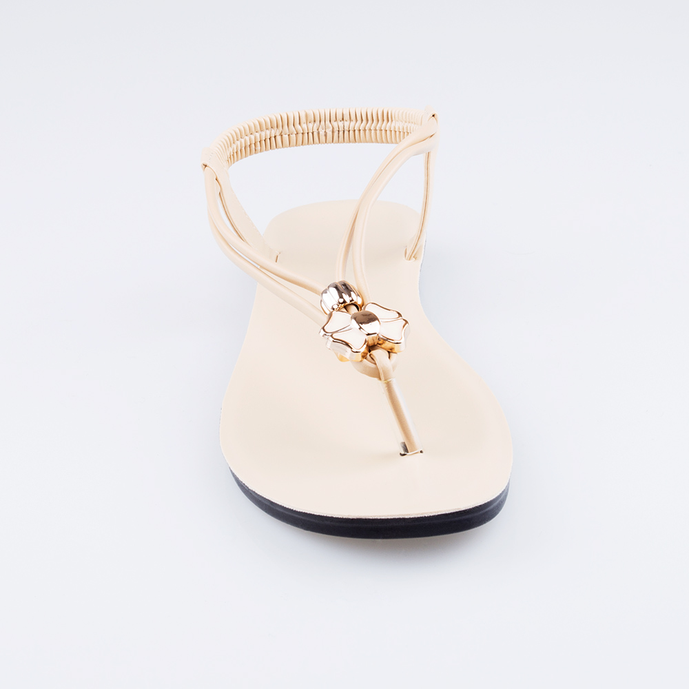 New style wholesale low price flat beaded latest ladies sandals designs