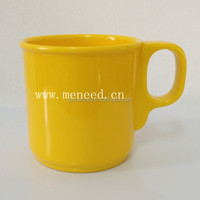 Coffee shop use melamine mug with handle , plastic melamine solid color cup