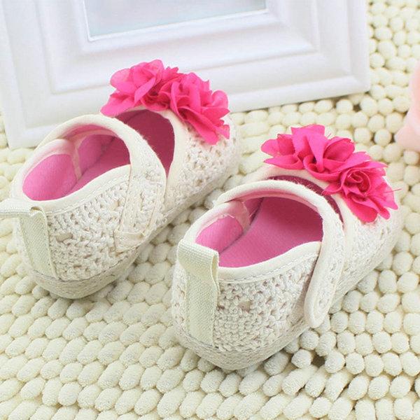 Ребенка малыша цветочные принцесса обувь мягкой подошвой Prewalker детская кровать в обуви 0 - 18 м