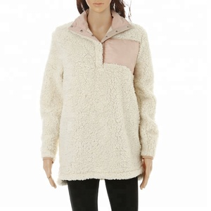 Sherpa fleece pullover wholesale clothing
