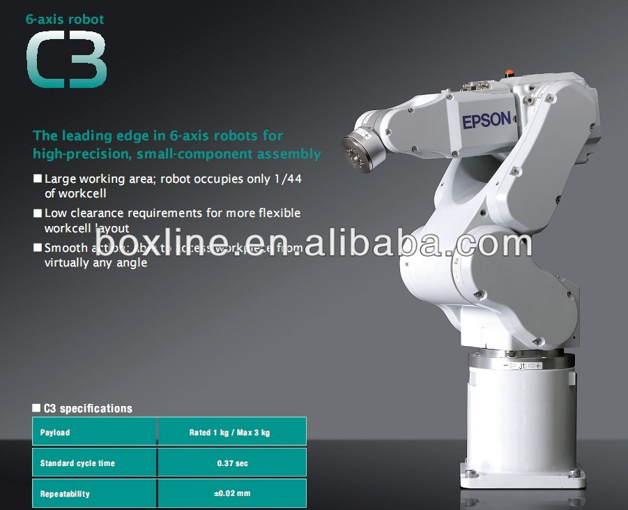Automatic 6 axis industrial robot arms