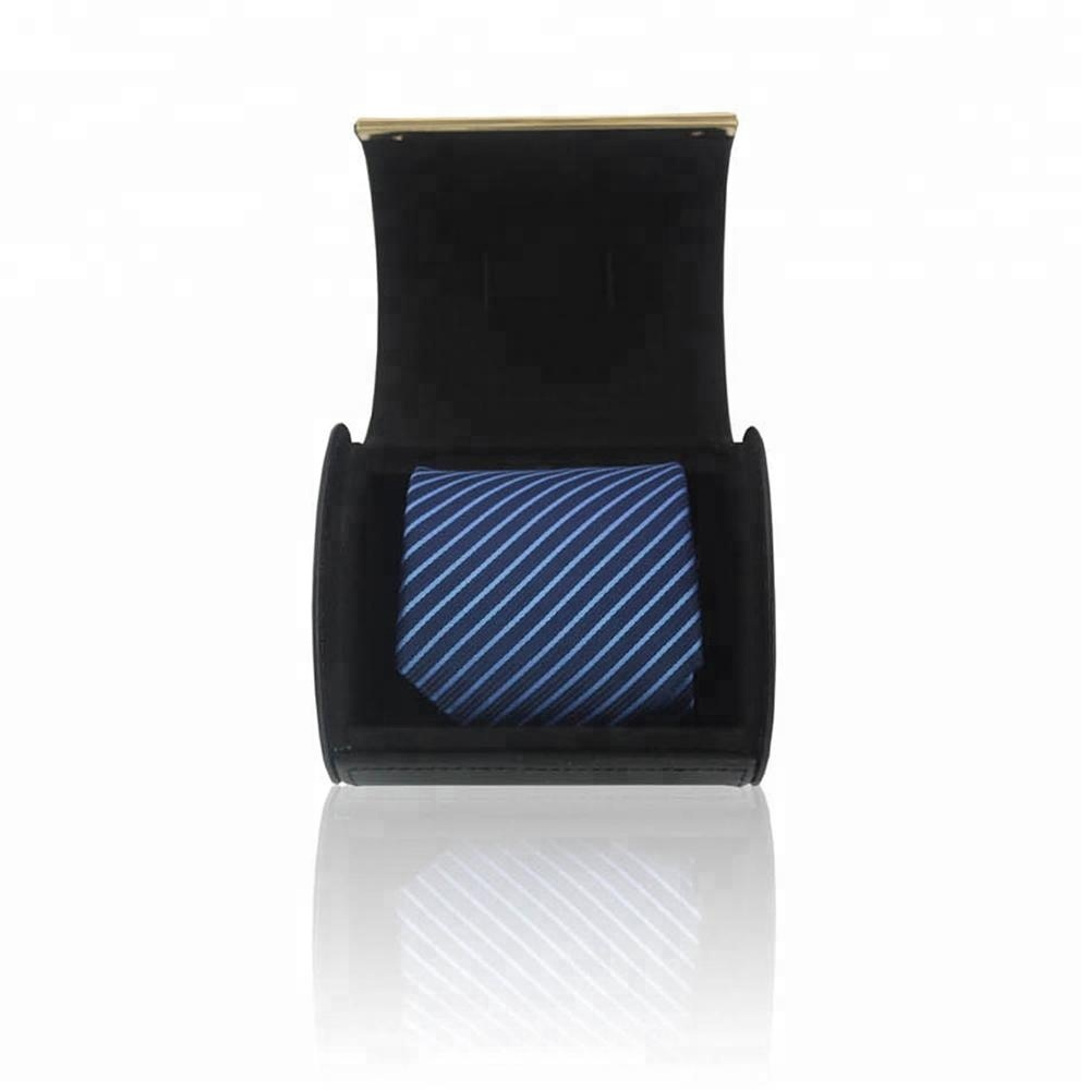 Wholesale handmade cardboard men luxury pu leather bow neck tie packaging boxes