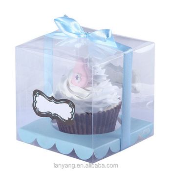 Clear Cupcake Muffin Cake Boxes Party Shower Favor Gift Container 3.5""