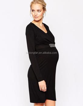 e31eec176 Alta calidad ropa de maternidad embarazada elegante cuadros de los vestidos  formales de las mujeres