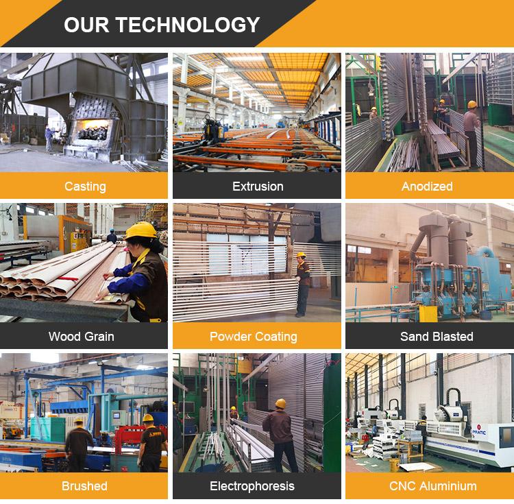 HOT!! China venda fábrica de qualidade superior personalizado oco tubo de alumínio quadrado