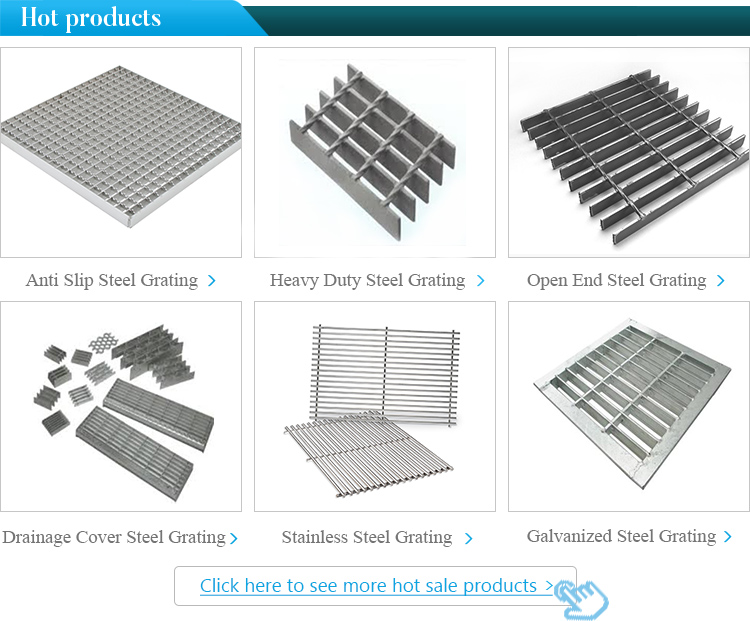 High Quality Galvanized grating Heavy Duty grating trench cover Road drainage steel grating