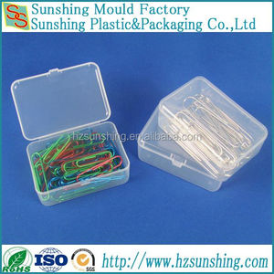 Cheap custom folding small clear boxes for paper clip packaging