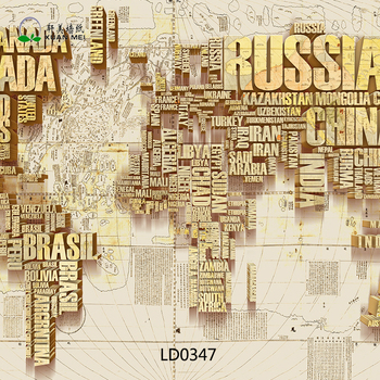 World Map Wall Mural 3d World Map Printed Large Wallpaper