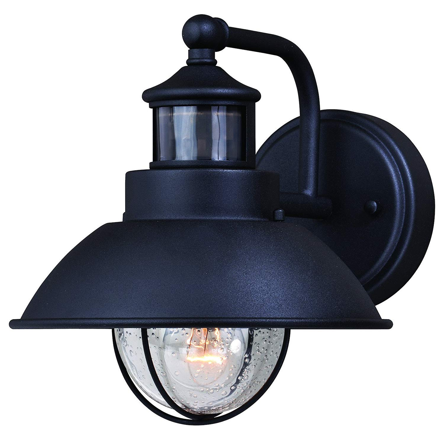 Harwich Dualux 8In. Outdoor Wall Light Textured Black