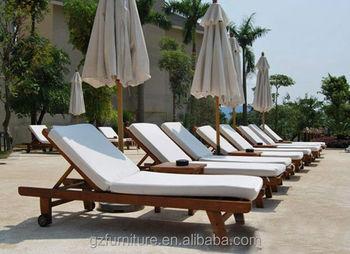Garden Recliner Wood Sun Lounge