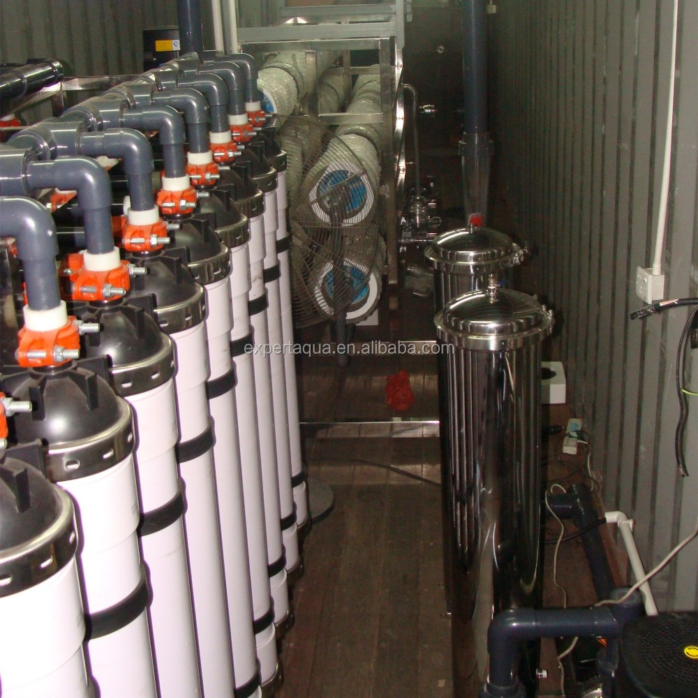 containerized water treatment plant for propylene glycol concentration system