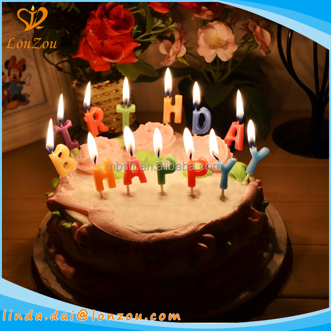 fancy birthday candles happy letters wholesale birthday cake candles for party