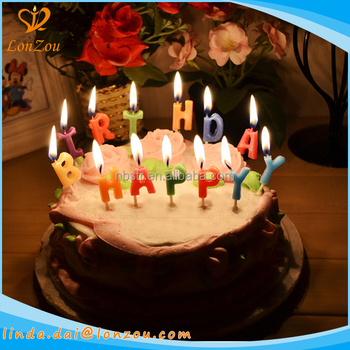 Fancy Birthday Candles Happy Letters Wholesale Cake For Party