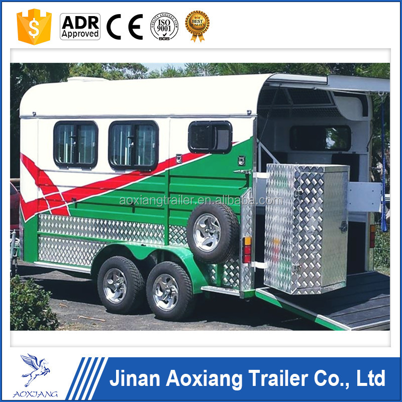 deluxe double horse floats in china,camper trailers australian standard