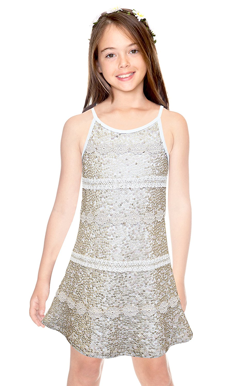 Hannah Banana Big Girls Tween Glittering Sequin Party Dress, 7-16