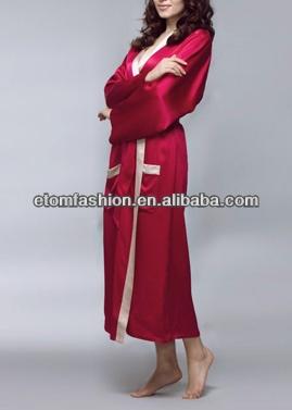 New Arrival Womens Nighties Dressing Gownreverse Trim Full Length