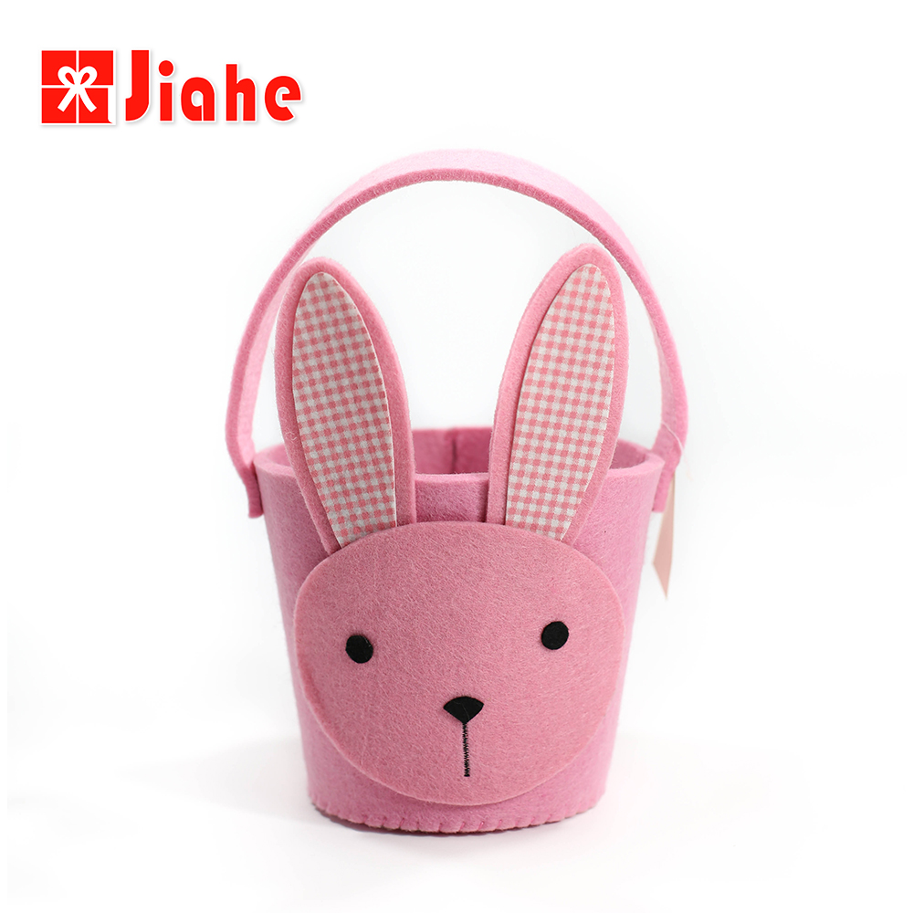Jiahe best price decorative products bunny wholesale fabric easter basket