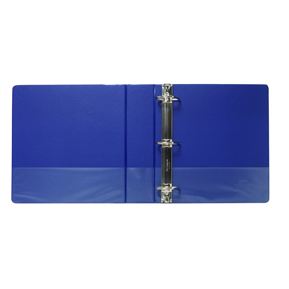 buy staples standard 2 inch d 3 ring non view binder blue 26419 cc
