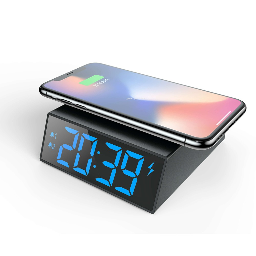 Promotional Gift Table Wireless Charging Led Electronic Clock фото