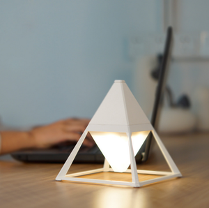 European-style pyramid simple LED USB charging touch dimming metal decorative atmosphere lamp desktop night lamp for home