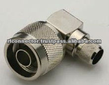 N Male Right Angle Connector For RG 213 Cable Crimp