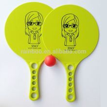 Promotional OEM wholesale cheap logo printed plastic beach ball racket