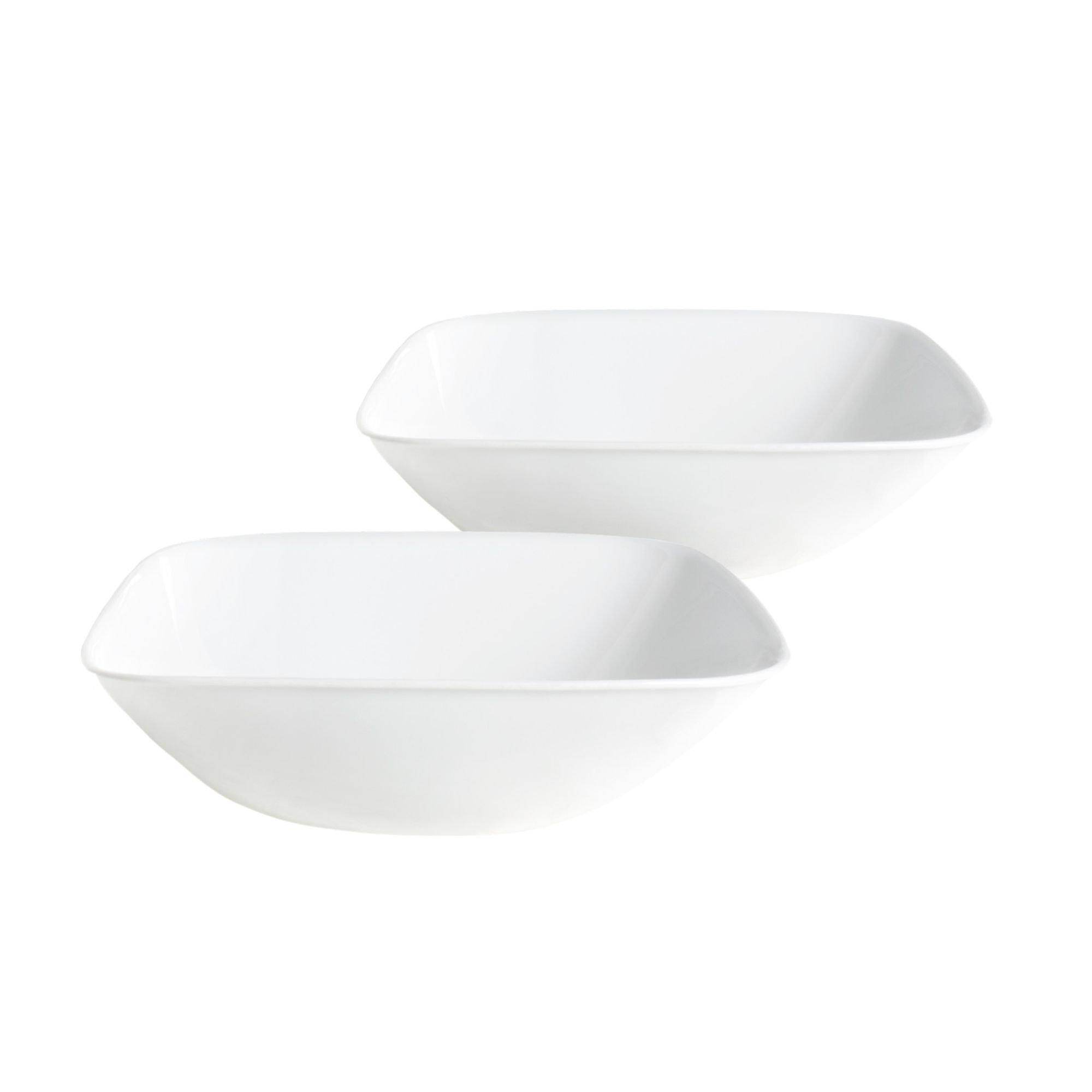 Corelle Square Pure White 1-Quart Bowl Set (2-Piece)