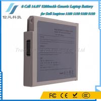 8 Cell 14.8V 5200mAh Li-ion Battery Pack Generic Laptop Battery for Dell Laptops Inspiron 1100 1150 5100 5150 Black