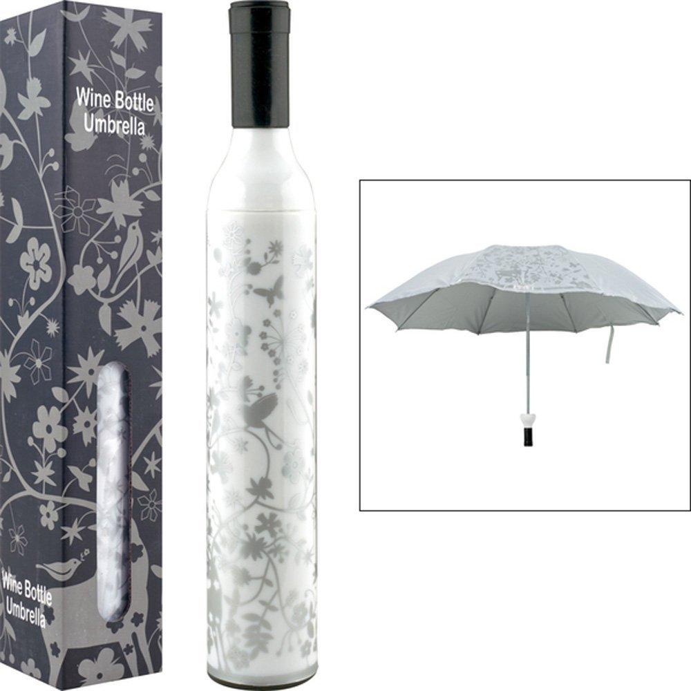 Wine Bottle Umbrella (WHITE & SILVER)