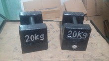 20kg cast iron elevator testing calibration weights