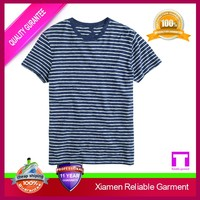 2016 Wholesale latest high quality knited yarn dyed men's striped t shirt design