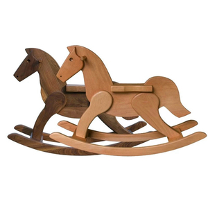Custom Collins 2019 Hot Sale Walnut Wood Riding Toys Wooden Kids Rocking Horse For Sale