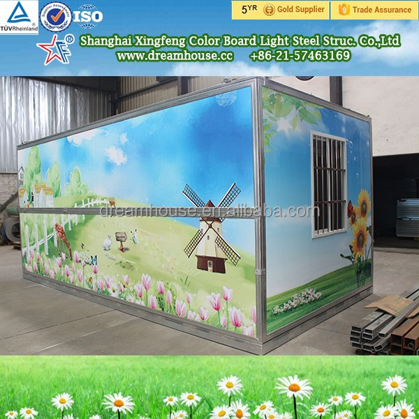 Foldable prefab container kit homes cabin shop/flat pack folding prefab modular container homes
