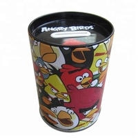 round coin bank money tin box metal box