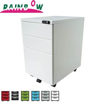 Modern Office Furniture 3 Drawer Locking Mobile File Cabinet