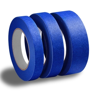 blue painters masking tape crepe paper