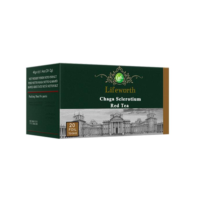 Lifeworth chaga mushroom extract fitness herbal red tea bag - 4uTea | 4uTea.com