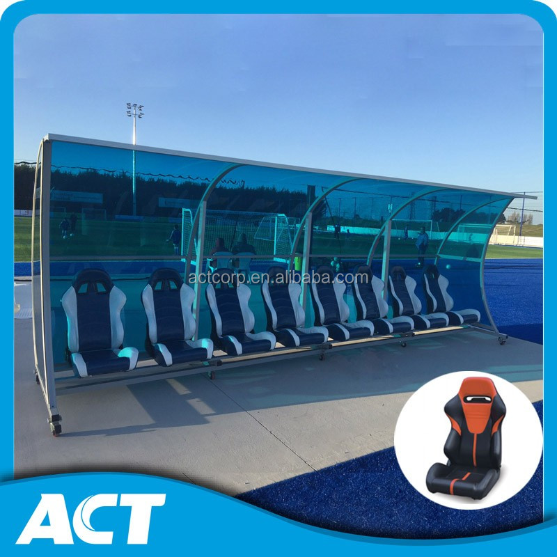 Sports equipment- Portable football dugout / player bench