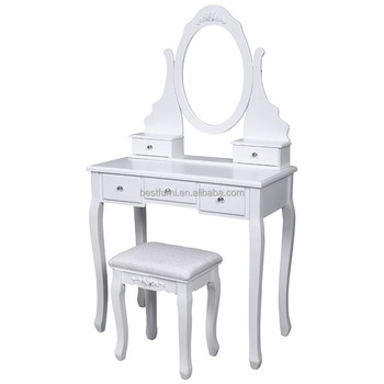 Girls Contemporary Cosmetic Dressing Table With Mirror And Stool   Buy  Girls Dressing Table,Cosmetic Table,Contemporary Dressing Table Product On  ...
