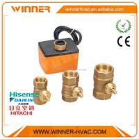 Wholesales 3 Way 2 Way Automatic motor operated operating ball valve, 3-way motorized control valve