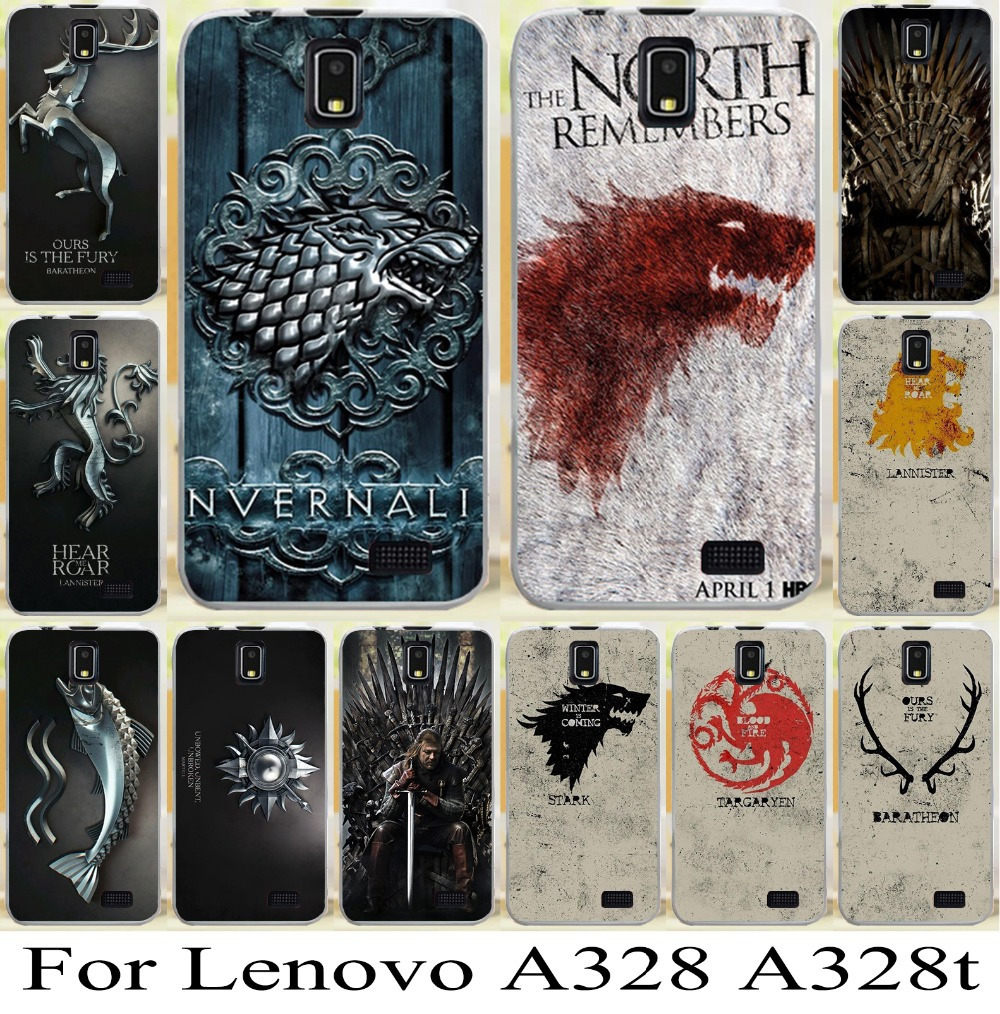 sneakers for cheap c412f dad27 For Lenovo A328 A328T game of thrones cool Cellphone Hard Case Cover mobile  phone case bag freeshipping family flag phone case