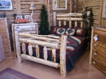 Double Rail Log Bed Buy Log Furniture Product On Alibaba Com