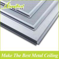 Acoustic aluminum drop ceiling tiles with T grid for basement ceiling