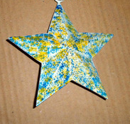 2015 Non-woven Colored Christmas Star Decoration (Hot Sell)